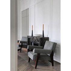 #josephdirand #parisapartment #stylish #moulding #ceiling #modern #furniture #classic #details #greyandwhite #interiordesigner #decor #home #interiordesign #sleek #homedecor #homedesign #instastyle #instadesign #inspiration #instahome #blackandwhite #artdisplay #armchair #fireplace #instacool