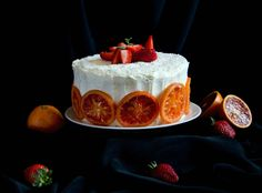 This strawberry blood orange cake is the best example of how winter and spring can come together in one delicious, refreshing dessert!