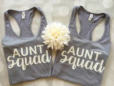 Aunt Squad Shirt, Aunt Squad Tank Top, bae best auntie ever, Best Auntie Ever… Best Auntie Ever, Gender Reveal Shirts, New Aunt, Auntie Gifts, Baby Park, Baby Wedding, Baby Shower, Niece And Nephew, Baskets
