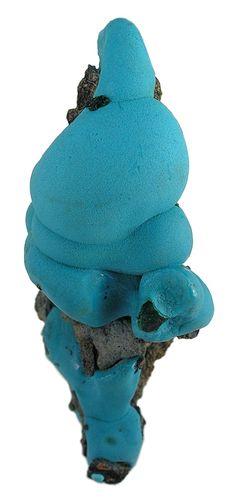 Chrysocolla (stalactite) from Star of the Congo Mine, Lubumbashi, Shaba (Katanga), Congo.