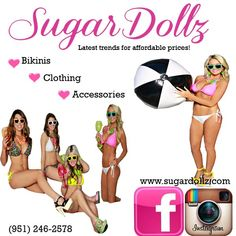 Bikinis, Clothing & accessories! We're your one stop shop!