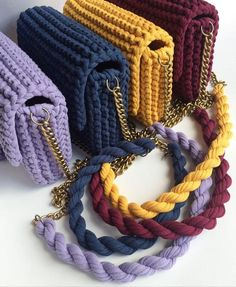 Recycled craft yarn knitting ideas Knitting ideas with recycling yarn You will love the models brought to you by the hand-knitted lap made of Amigurumi rope which is crochet in the knitting Likes, 8 Comments - ЕкатерBobble Stitch Hand Crochet Clutch Bags, Crotchet Bags, Crochet Handbags, Crochet Purses, Knitted Bags, Handmade Purses, Handmade Handbags, Knitting Yarn, Hand Knitting