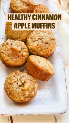 These healthy apple cinnamon muffins are perfect for easy meal prep, and great for a grab and go healthy breakfast or healthy snack. These are gluten-free, refined sugar free, and paleo! #muffins #glutenfree #paleo #mealprep #fall #fallrecipe #snack #breakfast #healthybreakfast #paleorecipe Sugar Free Muffins, Sugar Free Snacks, Sugar Free Desserts, Gluten Free Desserts, Gluten Free Recipes, Sugar Free Apple Recipes, Paleo Apple Recipes, Sugar Free Meals, Gluten Free Muffins