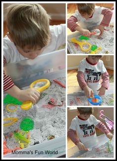 Insect Sensory bin: Sensory bins are a great way for kids to explore and have hands on play. There are so many ways to explore and have fun with them from different Science play to Outdoor fun.