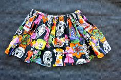 Day of the Dead Twirlie Skirt for Baby Infant door ShopSugarsnap, $10,00