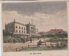 orig. Holzstich Die Universität - Baltikum in Antiquitäten & Kunst, Grafik, Drucke, Ansichten & Landkarten | eBay
