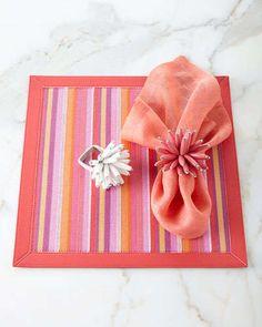 -5R0Q Kim Seybert Deck Stripe Table Linens