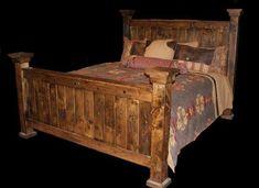 Barnwood Bed-Mountain Lodge Furnishings