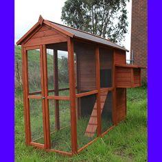 Chicken Coop Hen House Rabbit Hutch Bird Cage 026s