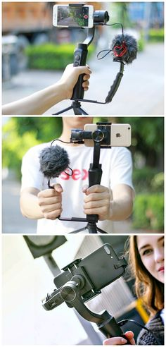 3-Axis Handheld Motorized Phone Gimbal /Stabilizer /Steadycam. Eliminate shaky footage and capture fast moving action or objects with higher clarity.