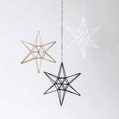 These stars are just the beginning to the christmas decorations.