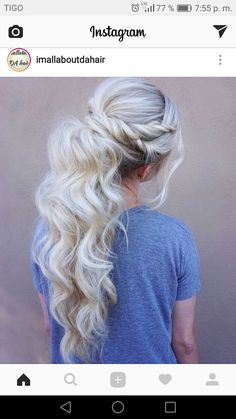 wedding hairstyles ponytail Wedding hairstyles ponytail updo messy buns ideas for 2019 Messy Ponytail Hairstyles, Dope Hairstyles, Pretty Hairstyles, Twist Ponytail, Prom Ponytails, Fancy Ponytail, Updo Hairstyle, Homecoming Hairstyles, Wedding Hairstyles