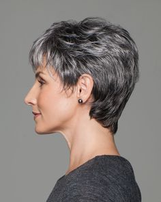 Incentive by Eva Gabor Wigs - Lace Front, Hand Tied, Monofilament Wig Really Short Hair, Short Grey Hair, Short Blonde, Short Hair Cuts, Short Pixie, Pixie Cut, Pixie Hairstyles, Pixie Haircut, Short Hairstyles For Women