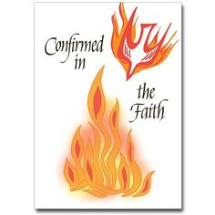 Confirmation Cards Congratulate Those Who are Confirmed in the Faith. printeryhouse.org, #printeryhouse