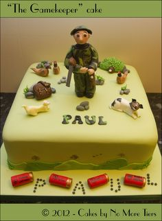gamekeeper cakes - Google Search Celebration Cakes, Cake Designs, Fondant, Cake Decorating, Birthdays, Birthday Cakes, Desserts, Pheasant, Bobs