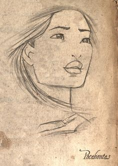 pocahontas fan art | Pocahontas Sketchby: LathronAniron