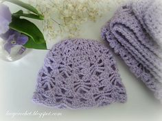 Olga Poltava is newly-featured at Make It Crochet and we're so happy to see her here! Beautiful, lacy baby things are the epitome of crochet beauty!  This precious little baby hat is sized for a newborn in DK weight (Yarn Standards size 3) yarn and is only 13 rounds! You'll have it finished in no