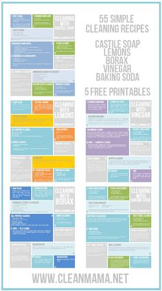 Cleaning With Natural Cleaners Round-Up – 55 Simple Recipes – 5 FREE Printables