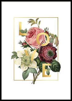 Life Poster– 50x70Love flowers Poster– 50x70...