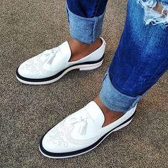 """When your shoe game is no longer a game. Top Shoes For Men, Your Shoes, Formal Shoes, Casual Shoes, Red Bottoms For Men, Mens Boots Fashion, Men's Fashion, Stylish Boots, Dapper Men"