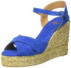 Castaner Womens Blaudell Espadrille Wedge Sandal Azul Electric 38 EU75 D US ** You can find more details by visiting the image link.