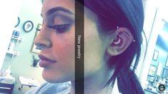 Industrial, daith & forward helix all in right ear