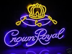 Crown Royal Neon Sign by Summerfield. $218.99. This is the perfect gift for that person who is so difficult to buy for. This brand new sign will look great in your bar, study, game room, or dorm room.This gorgeous sign is all the more spectacular because it was made with dazzling purple and yellow colors. This is a commercial grade sign and comes on a heavy black gauge grid and not plexiglass like many others.This spectacular work of art can be wall mounted, free standing or disp...
