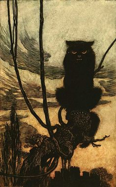 Arthur Rackham, Jorinder & Joringle (Fairy Tales of the Brothers Grimm), c.1910.