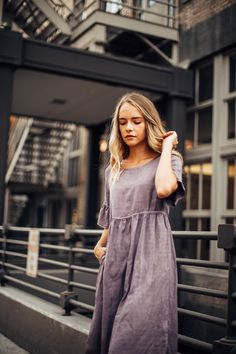 THE AMALFI TENCEL DRESS IN PLUM// DRESSES// WOMENS CLOTHING// DRESSES CASUAL