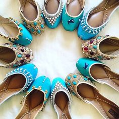 The handmade shoe brand launched a line aimed at American consumers that reimagines the South Asian khussa flats as an urban fashion shoe. Shoe Boots, Shoes Sandals, Flat Shoes, Indian Shoes, Espadrilles, Shoe Closet, Punjabi Fashion, Shoe Collection, Wedding Shoes