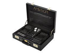Sada příborů Prato v kufříku 72-dílů AMBITION. Ambition, Modern, Form, Design, Products, Cutlery Set, Tablewares, Stainless Steel, Trendy Tree