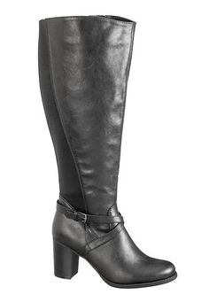 """$60.00 - 17"""" calf - Black Willow wide calf heeled boot (original price, $59) available at #Maurices"""