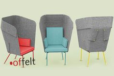offelt / privacy chair design by tuğçe tunç
