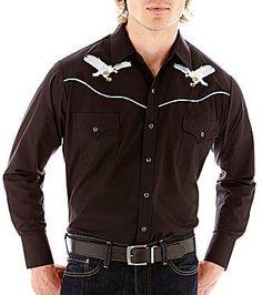 Ely Cattleman Long-Sleeve Western Eagle Shirt