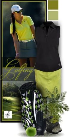 A classy golf look on the course! Exclusive at lorisgolfshoppe.polyvore.com #golf #fashion #ootd #lorisgolfshoppe