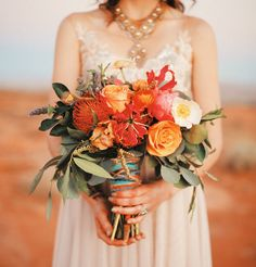 These colors (with a little less green) are exactly right for bouquets. We don't really like peonies or roses though.