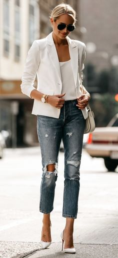 HOW TO WEAR A WHITE BLAZER THIS SUMMER