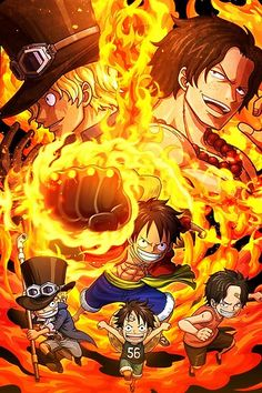 'Luffy & Ace & Sabo - One Piece' Photographic Print by Raed-D-Artist One Piece Anime, Ace One Piece, One Piece Crew, One Piece Gif, One Piece Drawing, One Piece Images, One Piece World, One Piece Luffy, One Piece Wallpaper Iphone
