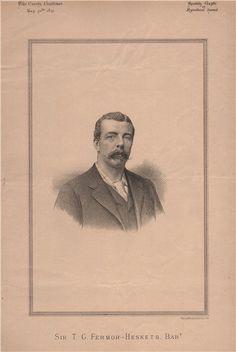 Sir T.G. Fermor-Hesketh. Bart, antique print 1891 in Art, Prints, Antique (Pre-1900) | eBay