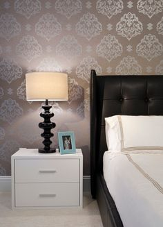 Bedroom Wallpaper Accent Wall Design, Pictures, Remodel, Decor and Ideas - page 326