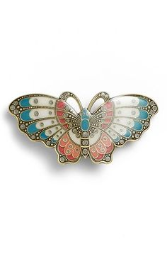 L. Erickson Artisan Butterfly Barrette available at #Nordstrom; $72 as of 7/28/14