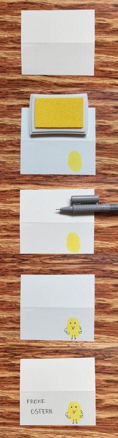 ideas4parents   DIY: Osterkarten mit Fingerabdrücken basteln - ideas4parents