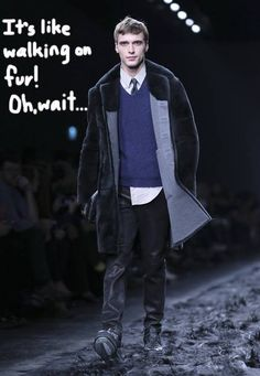 Fendi Uses Goat Fur To Line Its Entire Runway For The Menswear Show! Have They Gone Too Far? http://perez.ly/19sPPf3