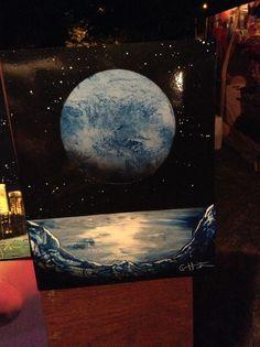 Spray paint art.