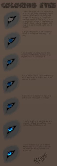 How I Draw Eyes : Tutorial by nequita.deviantart.com