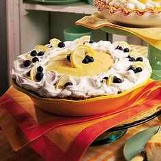 Lemon-Blueberry Cream Pie.