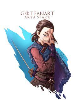 Game of Thrones-Fanart - Arya Stark, CJ Yamaue auf ArtStation unter www. - Game Of Thrones Dessin Game Of Thrones, Game Of Thrones Drawings, Game Of Thrones Illustrations, Arte Game Of Thrones, Game Of Thrones Artwork, Game Of Thrones Arya, Arya Stark Art, Game Of Throne Poster, Film Manga