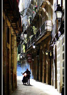 Barrio Viejo, Barcelona, España