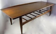 Mid Century Modern COFFEE TABLE  Surfboard by LuckySevenVintage, $320.00