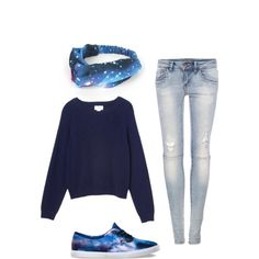 This is literally the perfect outfit for me. I already have the Vans, sweater, and jeans.